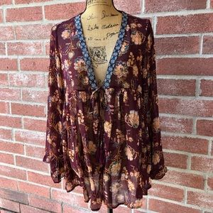 Sheer cover open cover up/cardigan